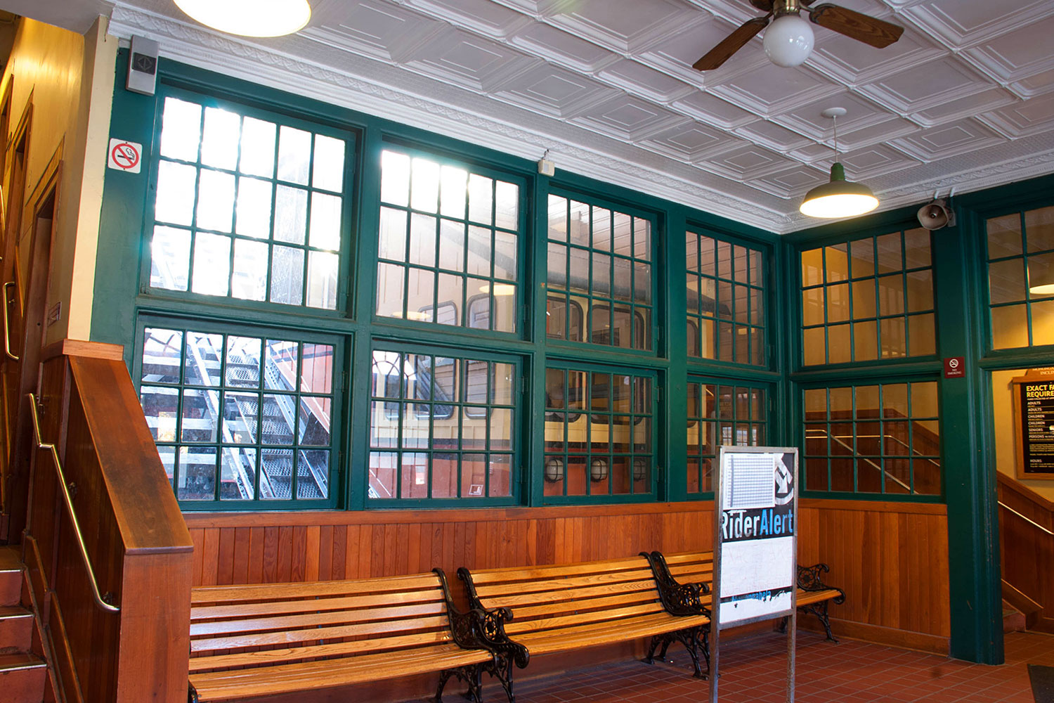 Lower Lobby with Window to Tracks