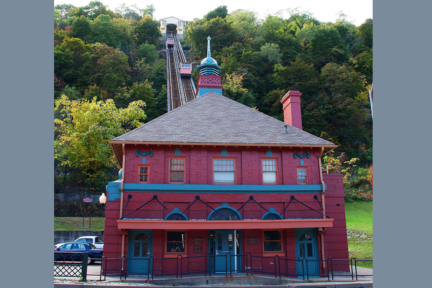 The Front of the Monongahela Incline Lower Station on Carson Street