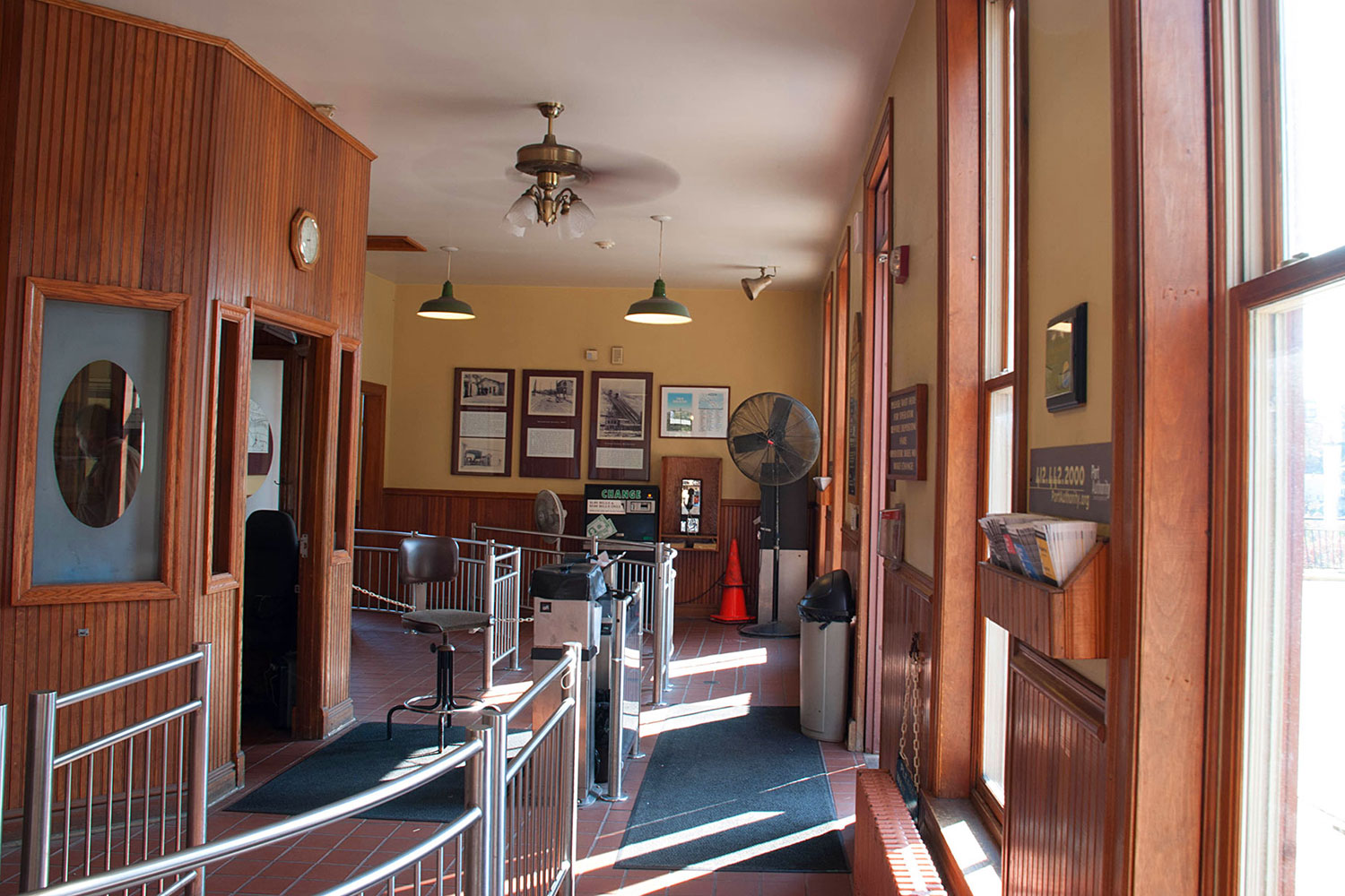 The Lobby of the Upper Station of the Mon Incline