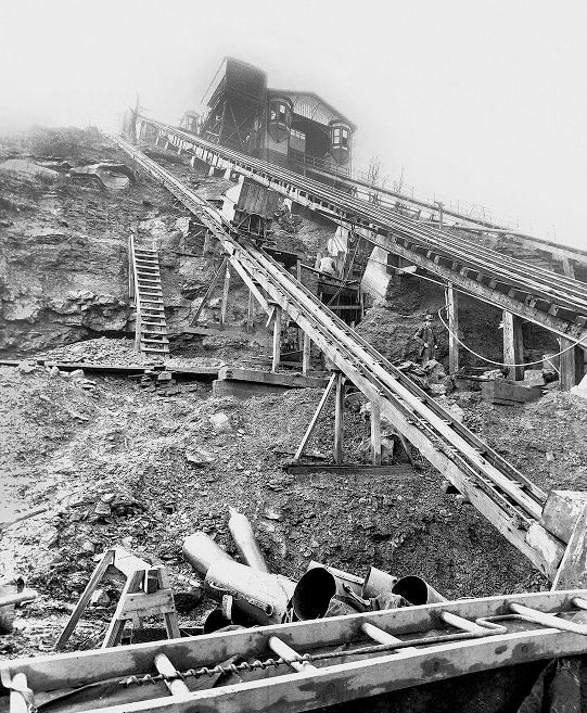 The Mon Freight Incline undergoing repairs